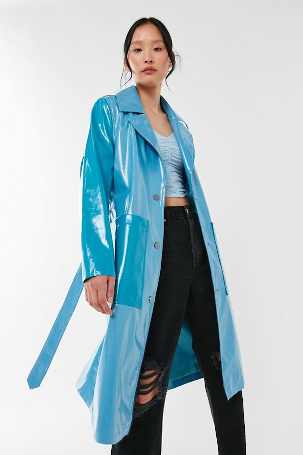 UO Colorblock Longline Raincoat