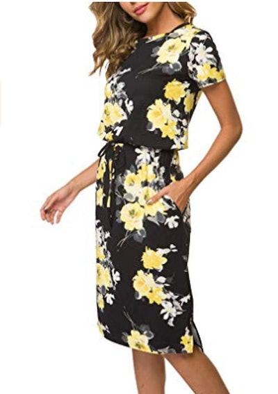 Simier Fariry Short Sleeve Midi Dress