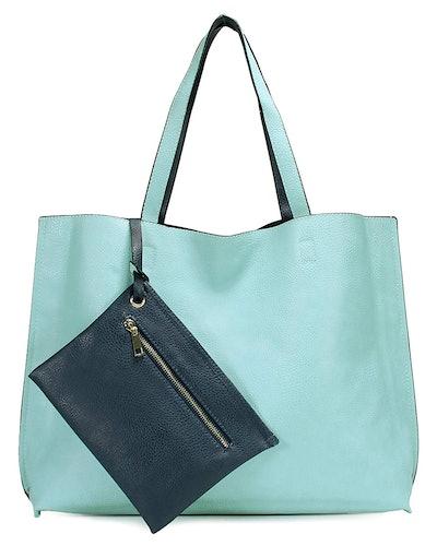 Scarleton Reversible Vegan Leather Tote Bag