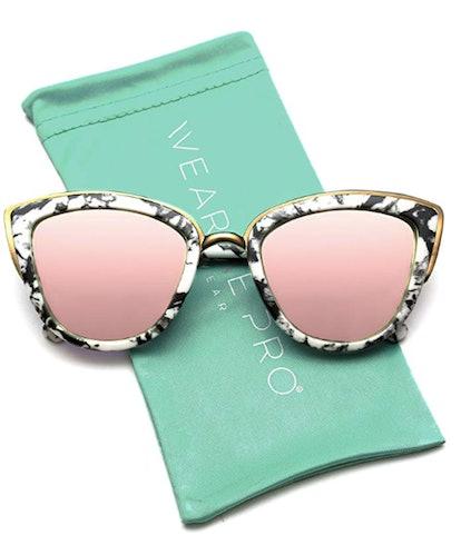 WearMe Pro Mirrored Cat Eye Sunglases