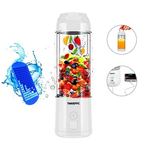TMKEFFC Portable Juicer Cup USB Battery Operated Blender