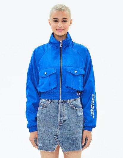 Nylon Jacket With Reflective Bands