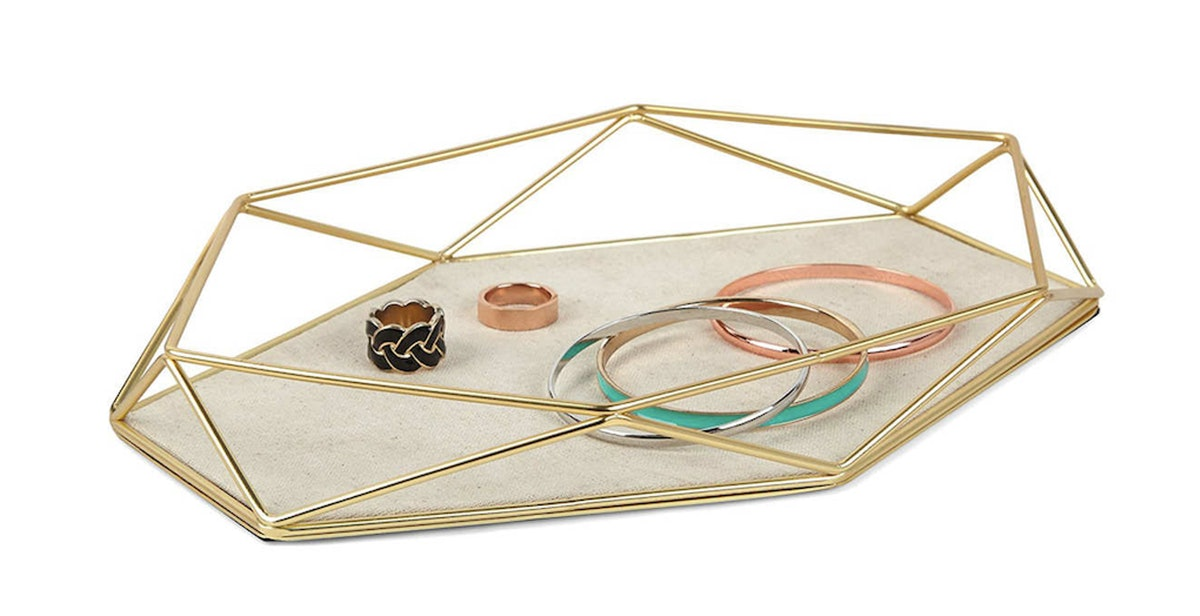 Umbra Prisma Brass-Plated Jewelry Tray