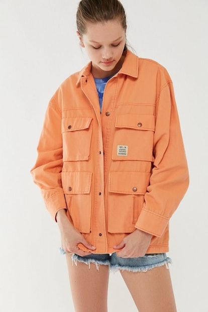 UO Derrek Snap Button Utility Jacket