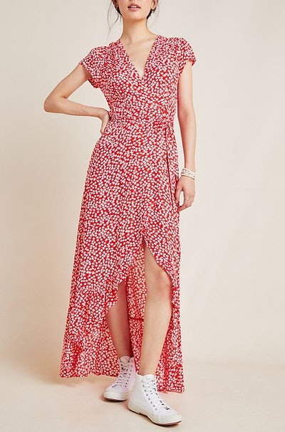Rome Wrap Maxi Dress