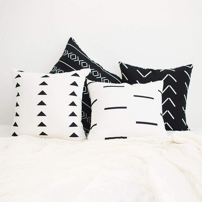 HOMFINER Throw Pillow Covers (Set of 4)
