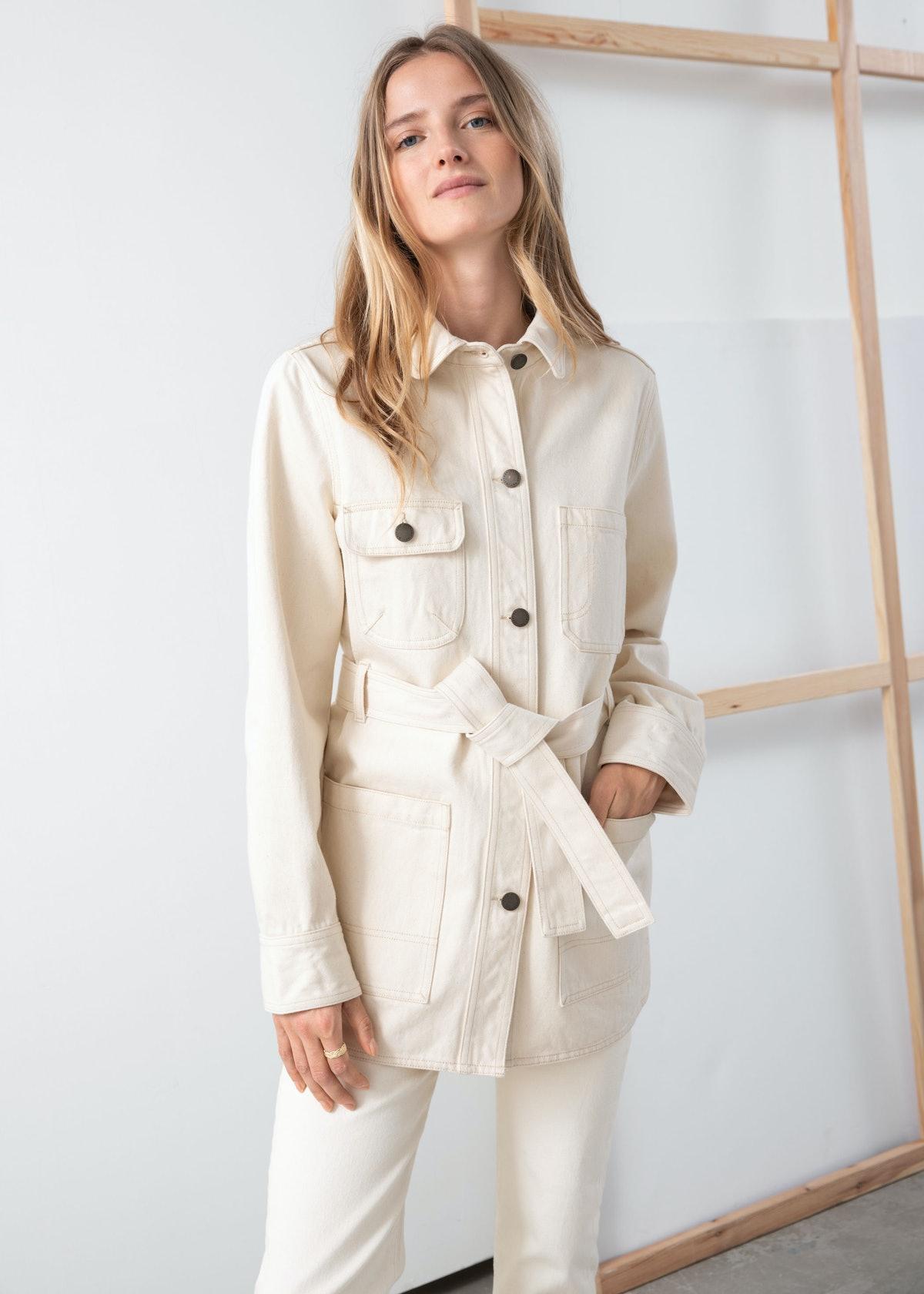 Belted Workwear Denim Jacket