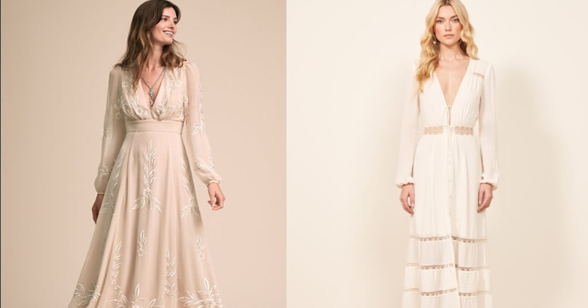 20 Boho Wedding Dresses Under 800 That Will Make You Say I Do