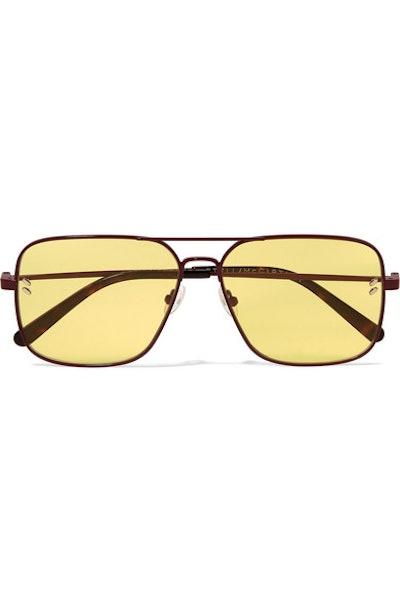 Aviator-Style Metal and Tortoiseshell Acetate Sunglasses