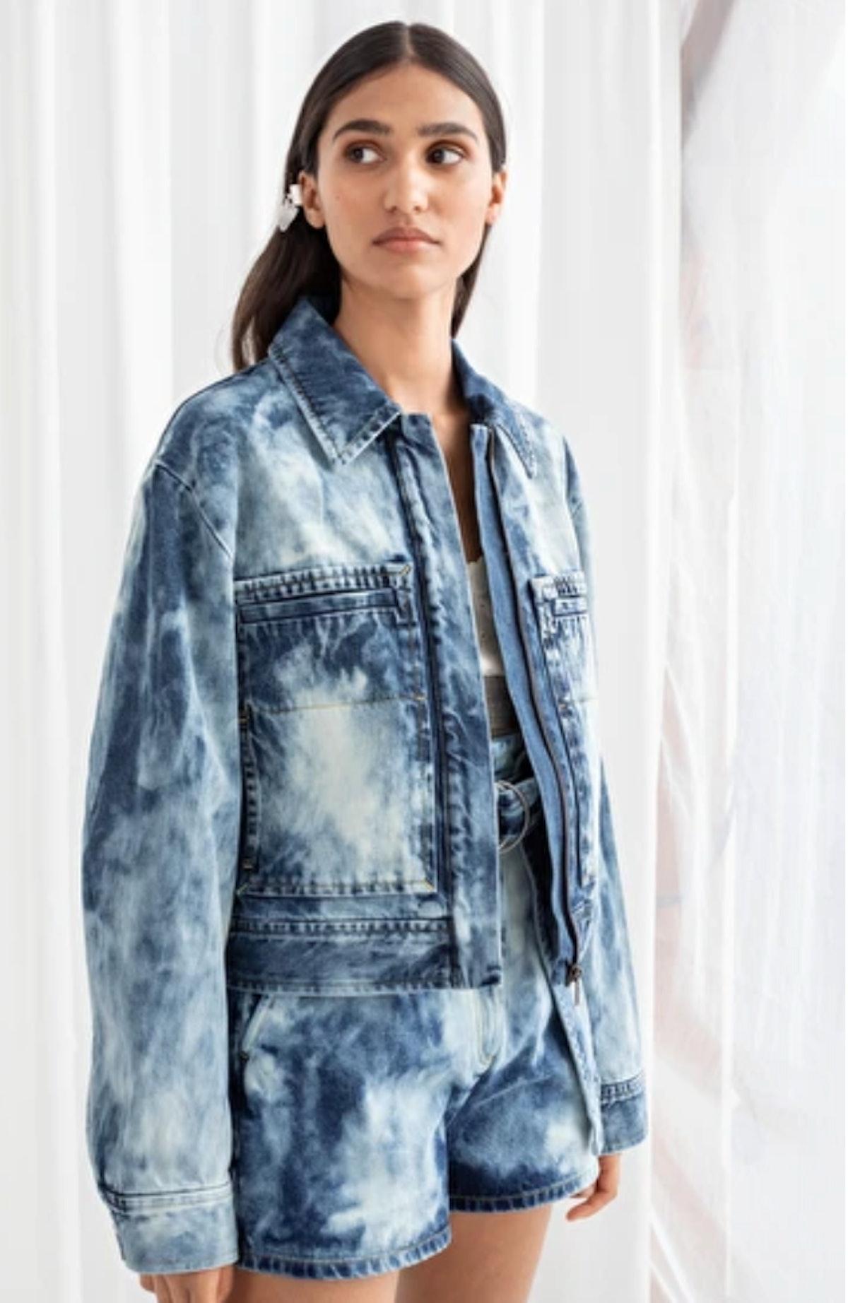 Tie Dye Organic Cotton Denim Jacket