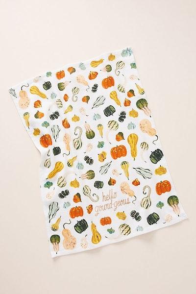 Quill & Fox Hello Gourd-Geous Dish Towel
