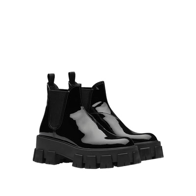 Monolith Patent Leather Booties