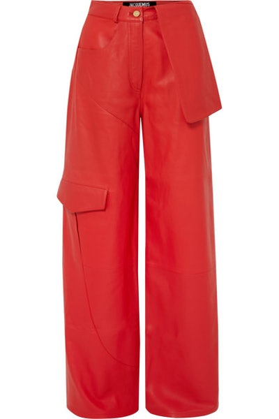 Le Pantalon de Nîmes Leather Wide-Leg Pants