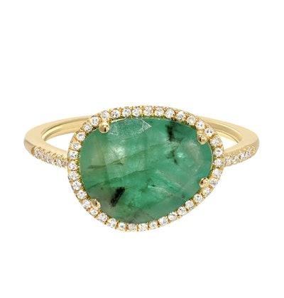 Diamond Emerald Ring