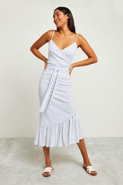 Multi Frill Strappy Midi Dress