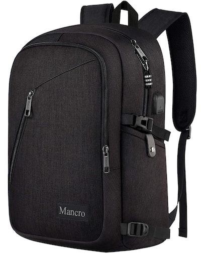 Mancro Water Resistant Laptop Backpack