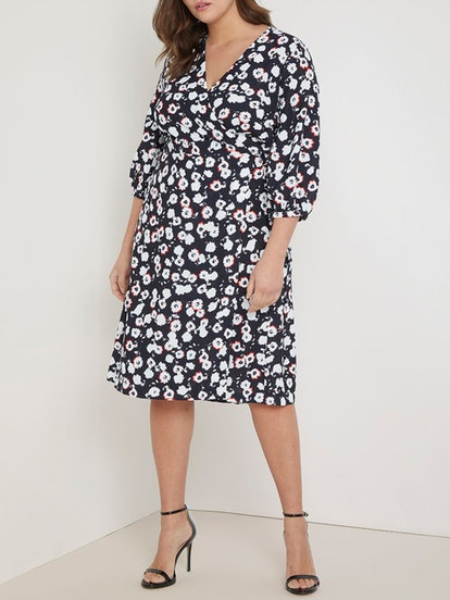 Premier 3/4 Sleeve Wrap Dress