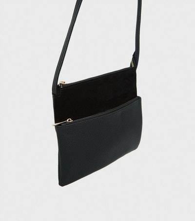New Look Black Quilted Cross Body Bag