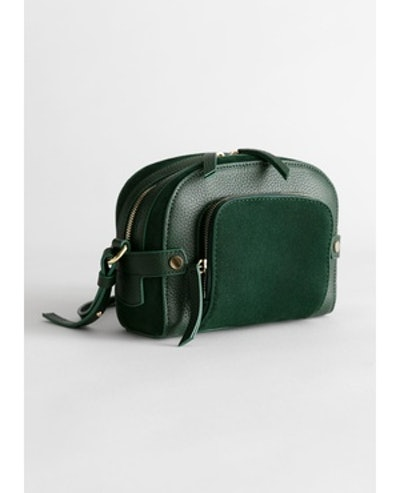 & Other Stories Leather and Suede Small Crossbody Bag