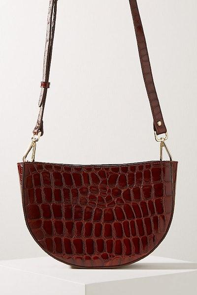 Anthroplogie Clara Half-Moon Crossbody Leather Bag
