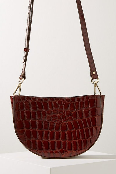 Anthroplogie Clara Half-Moon Crossbody Leather Bag