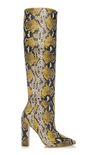 Jerri Snake-Effect Leather Boots