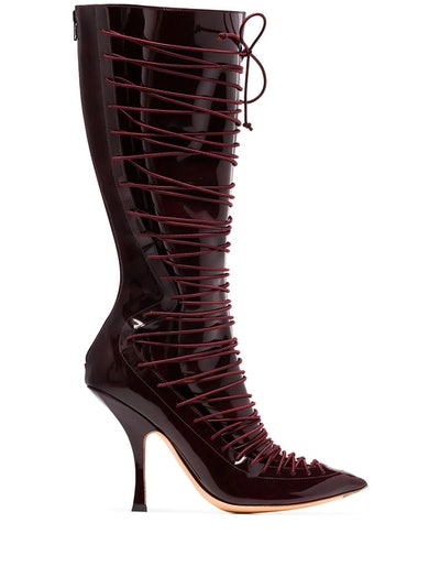 Lace-Up 100mm Boots