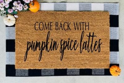 Pumpkin Spice Latte Welcome Mat