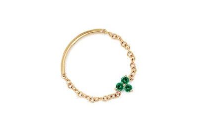 Emerald Trio Chain Ring