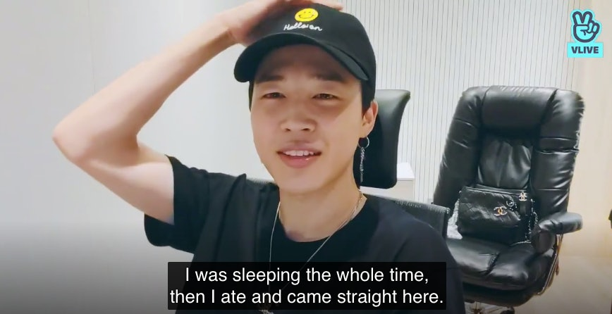 The Video Of BTS' Jimin Doing ASMR In His First VLIVE During