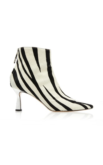 Lina Zebra Printed Ankle Boots