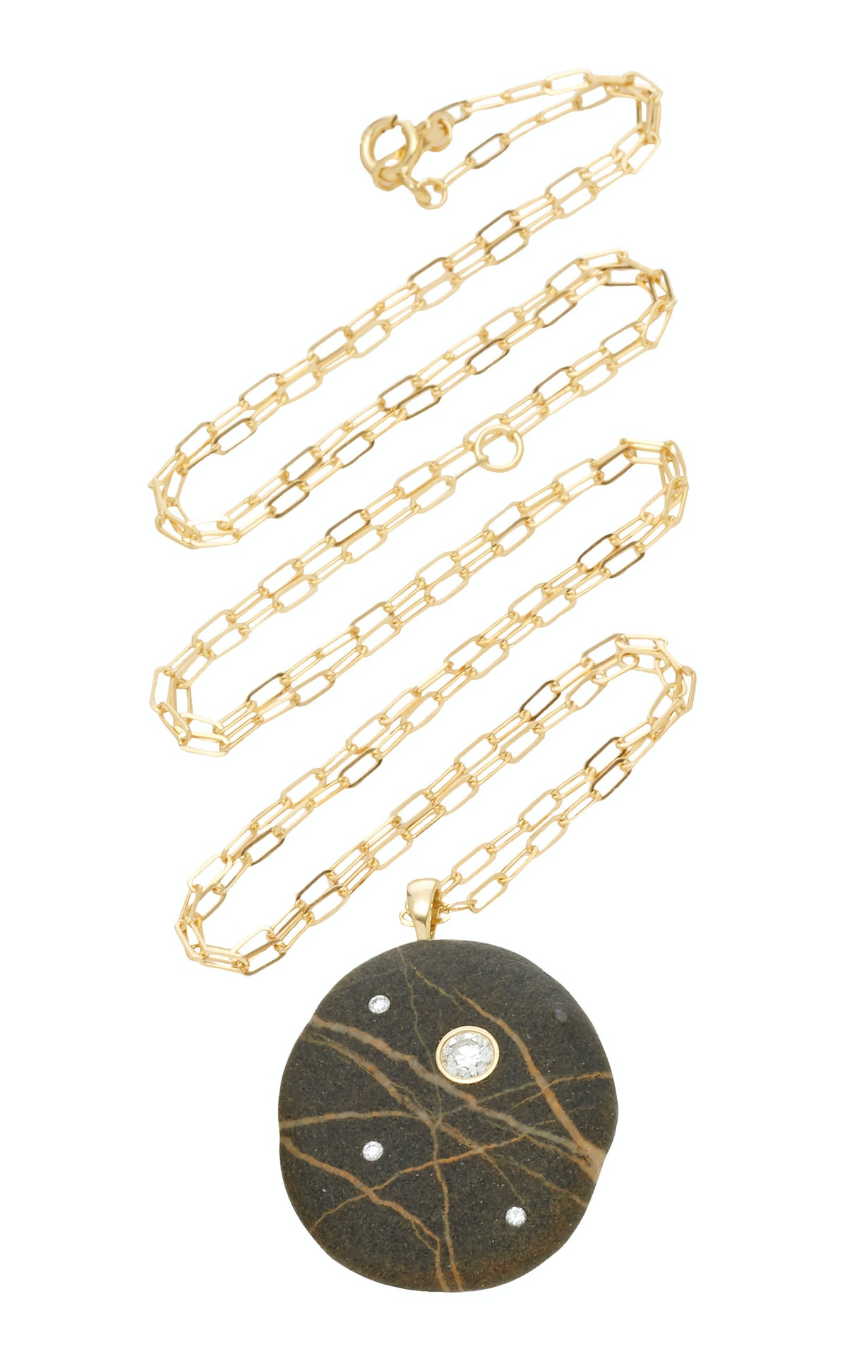 Space 18K Gold, Stone And Diamond Necklace