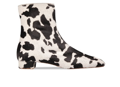 Este Cow-Print Pony Hair Boot