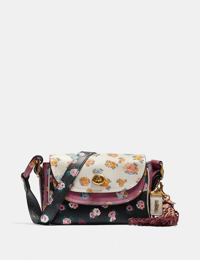 Crossbody 17 In Colorblock With Meadow Rose Print