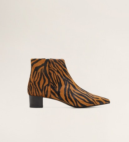 Tiger Printed Ankle Boots