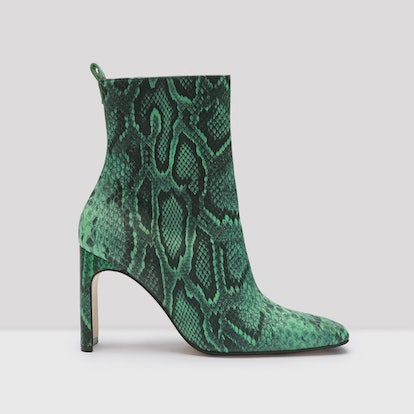 Marcelle Green Snake Leather Boots
