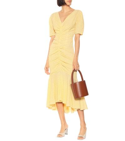 Panier Cotton-Blend Gingham Dress