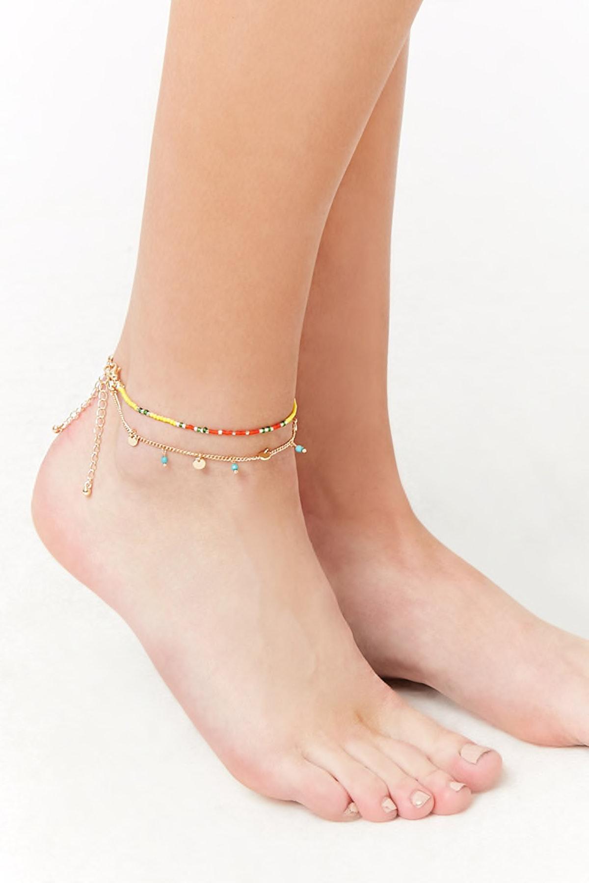 Beaded Anklet Set
