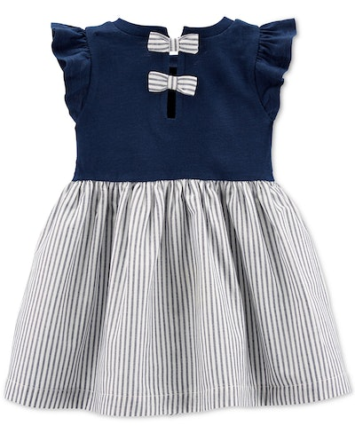 Baby Girls Cotton Striped Skirt Dress