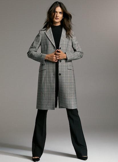 Babaton Trent Jacket Long Plaid Blazer Jacket