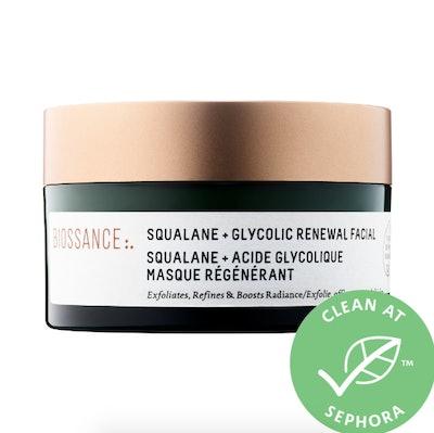 Biossance Squalane + Glycolic Renewal Face Mask