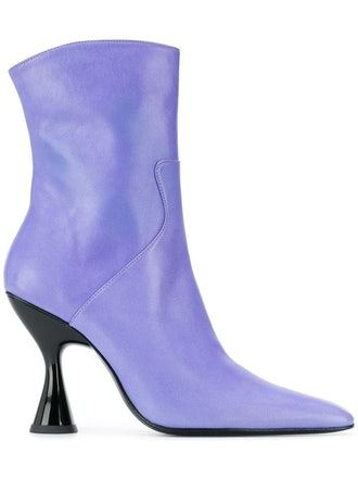 Lilac Sculptural Ankle Boots