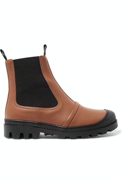 Rubber-Trimmed Chelsea Boots