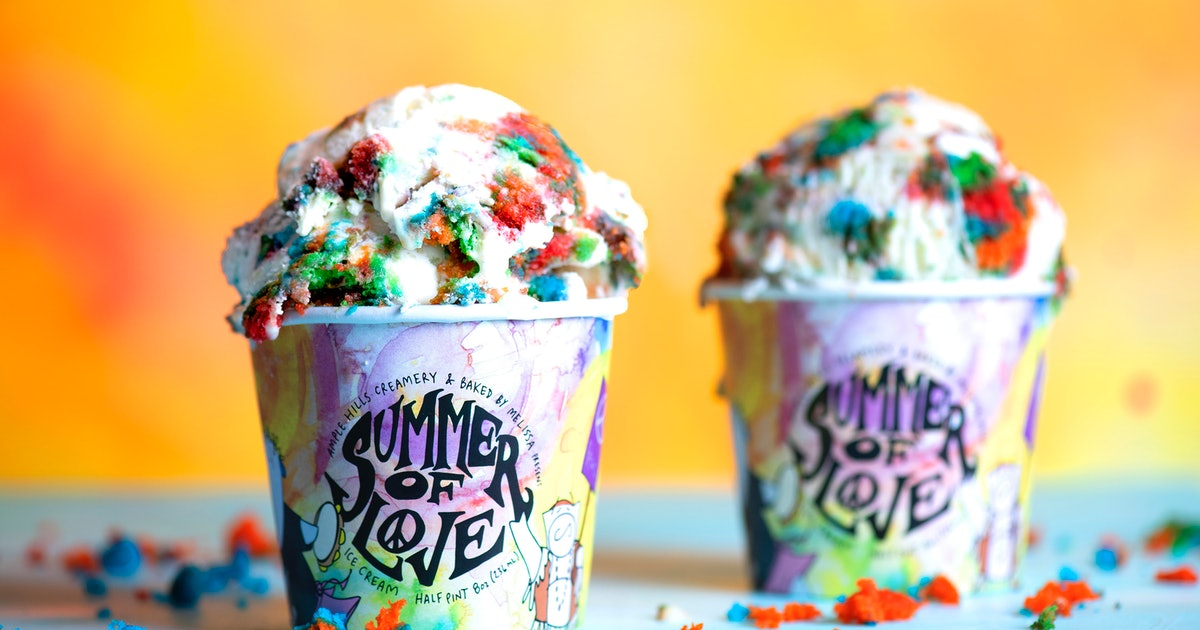 Baked By Melissa x Ample Hills Summer Of Love Ice Cream Is A Tie Dye Treat