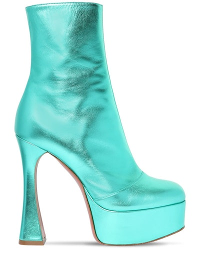 Dua Metallic Leather Boots