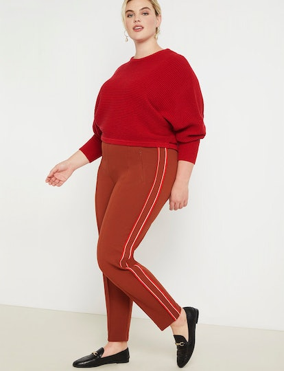 Pintuck Trouser with Side Stripe