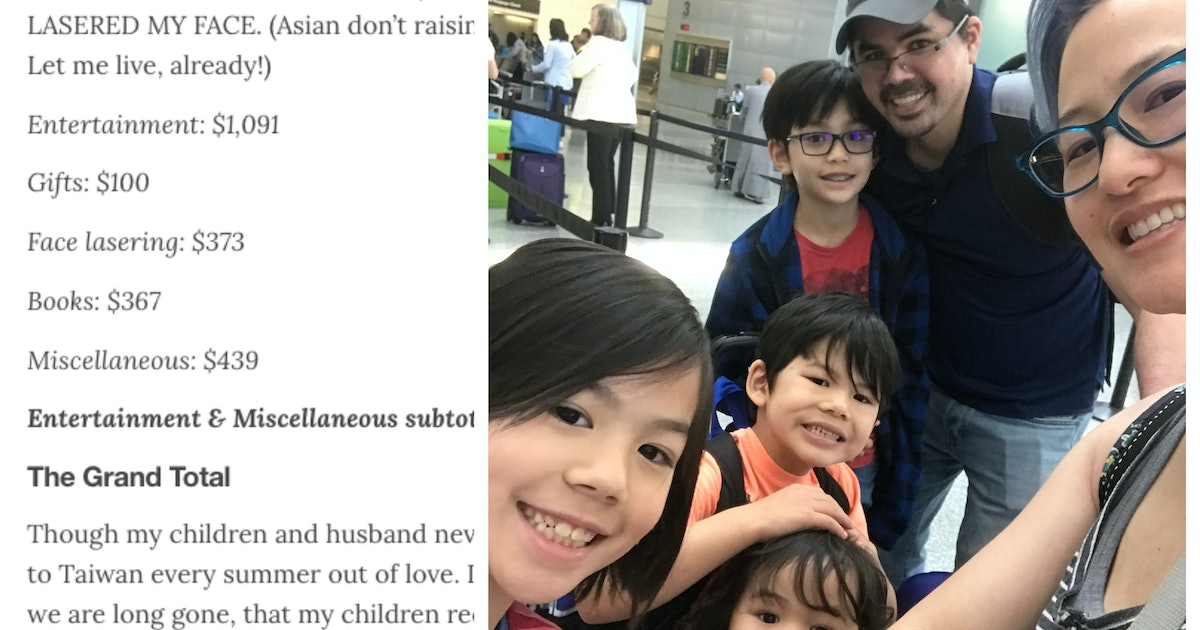 What A Family Spends Each Summer To Travel Abroad To Taiwan