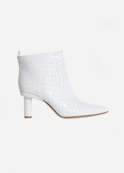 Theo Croc Embossed Booties