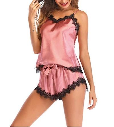 Lu's Satin Pajama Cami Set