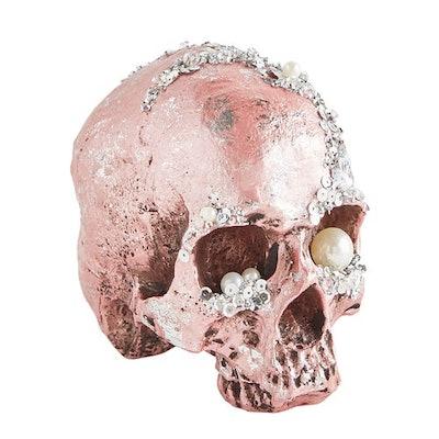 Bejeweled Pink Halloween Skull